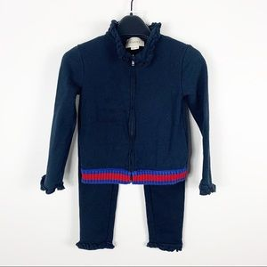 Gucci Sweatsuit Hoodie Jogger Blue Striped Detail